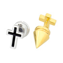 Purity Spike Cross Earring
