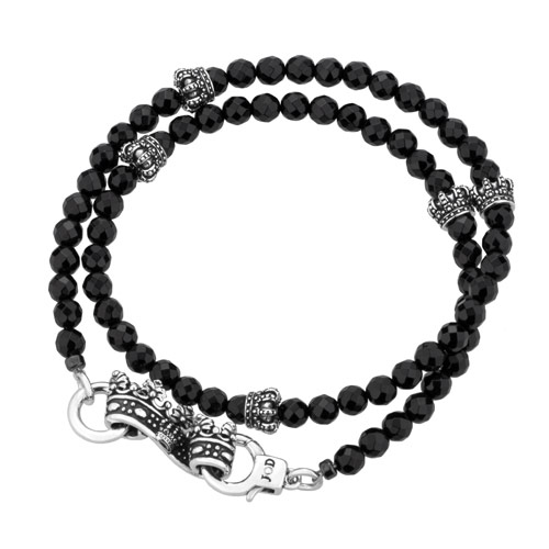 Black Serpent/Crown Bracelet