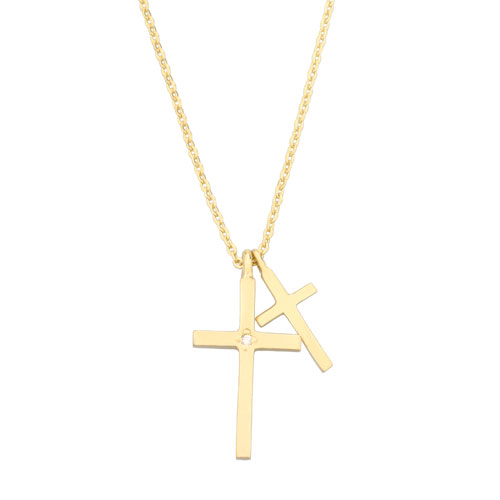 SAHRIVAR シャフリーバル W Cross Necklace GP