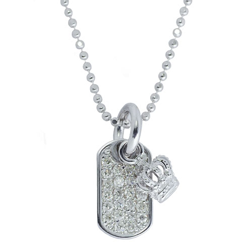 Snj162 diamond dog tag justin davis diamond dog tag mozeypictures Images